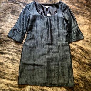 *NWT* J. Crew Crinkle Dupioni Dark Navy Blue Dress